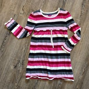 Greendog Girls Stripped Long Sleeve Dress-SIZE 6X
